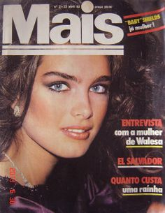 Brooke Shields covers Mais (Portugal), April 23, 1982.