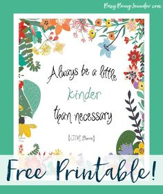 Be a Little Kinder {Free Printable} - Busy Being Jennifer