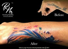 Cover-up Tattoo  #RockingNeedles #Coverup #FeatherTattoo #Freedom #ColorTattoo  Tattoo by : Jigar Panchal  Rocking Needles Follow us @ Rocking Needles / Facebook  Rockingneedles94 / Instagram  Contact us @ 9167956523 / 9167957920 Email: rockingneedles94@gmail.com