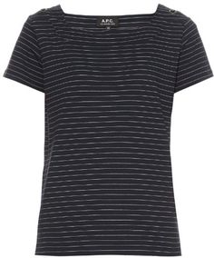 East Coast striped cotton-jersey T-shirt East Coast, Stylish, Tees, Mens Tops, Cotton, T Shirt, Women, Fashion, Supreme T Shirt