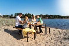 Sundays Core Spisebord Sett Komplett Med To Benker Og Et Bord (sundayscorespiskomplett) Outdoor Furniture Sets, Outdoor Decor, Teak, Design