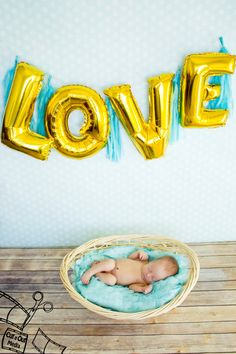 Gold Letter Balloons Photography Prop Love XO by CreativeJuiceCafe