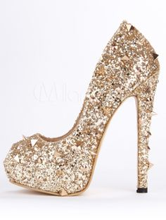 181e44e541a7d  glitter  girly  heels Cute Shoes Heels
