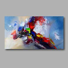 Pintada a mano Abstracto Horizontal,Modern Un Panel Lienzos Pintura al óleo pintada a colgar For Decoración hogareña 4644407 2017 – $146.756