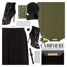 """""""Cozy Cashmere Sweaters / Givenchy Distressed sweater in army-green cashmere"""" by palmtreesandpompoms ❤ liked on Polyvore featuring Givenchy, Kenzo, Siren, Balenciaga, FOREO, Witchery, Aveda, Japonesque and cashmere"""