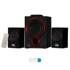 Theater Solutions TS212 Powered 21 Speaker System Multimedia with Bluetooth ** Check out this great product.