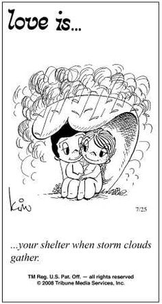 Love Is.... cartoon in the newspaper everday