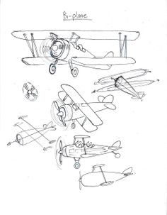 how to draw a ww1 plane