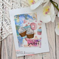 Card by Karola Distress Oxides, Distress Ink, Birthday Month, 40th Birthday, Work Related Stress, Cheer Me Up, Clear Stickers, Running Stitch, My Stamp