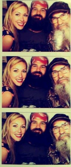 ::Duck Dynasty:: (L to R) Jessica & husband Jep Robertson, with Uncle Si Robertson