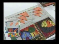 Bandeja (toalha) americana patchwork, Ateliê na TV, Passo a passo, Técnica patchwork, Aula patchwork