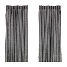 IKEA AINA Curtains, 1 pair Dark grey 145x250 cm The curtains lower the general light level and provide privacy by preventing people outside from seeing...