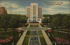 Birmingham City Hall postcard