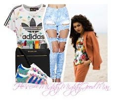 """""""Whatta Man"""" by thailyn-nicole ❤ liked on Polyvore featuring adidas Originals and adidas"""