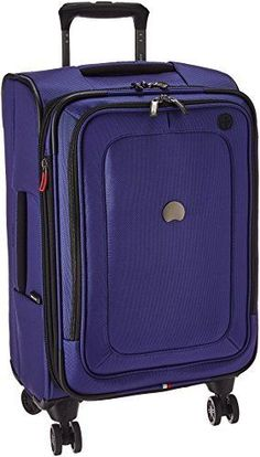 Delsey Luggage Cruise Lite Softside Carry-on Exp. Double spinner wheels, top and side carry handle and dual position locking trolley handle. Best Luggage Brands, Cute Luggage, Carry On Suitcase, Travel Organization, Shopper Tote, Cruise, Handbags, Truffle Recipe, Blue
