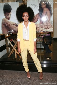 Solange Knowles yellow