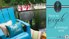 How to decorate, repurposing a vintage sink - Twyne Tips 3