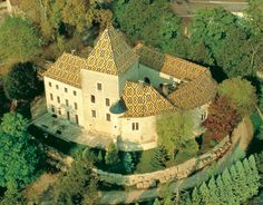 Château de Santenay, majestic stately residence of the IXth, XIIth and XVIth centuries.. Borgogne