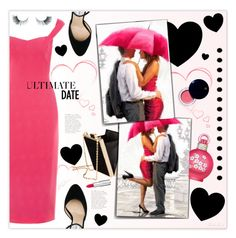 """""""Romance in the Rain"""" by theseapearl ❤ liked on Polyvore featuring Giles, H&M, Britney Spears, Jimmy Choo, Ultimate, Clé de Peau Beauté, Unicorn Lashes, Givenchy, DateNight and dress"""