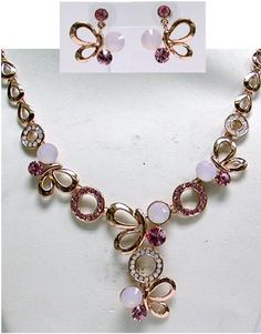C.T. Company- Carucci Jewelry | Booth 113 | January 2014 http://www.californiagiftshow.com/ Swarovski new rose water opal, light rose crystals Nk and ER set plated in Rose Gold color.