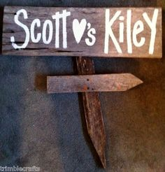 Personalized bride and groom sign salvage barn wood primitive wedding decor hp   eBay