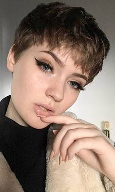 Regularly, you'll hear excellence counsel that says ladies with round faces should not go short pixie cuts. That is totally wrong. You can wear whatev..., Pixie Cuts