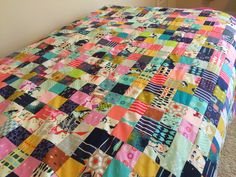 a quilt is nice: cotton & steel quilt top - made by using 16 patches (yet still get a scrappy look!)