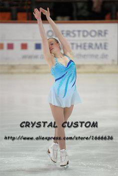 Figure Skating Dress For Children Graceful New Brand  Competition Figure Skating Dress Custom DR4005