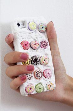 DIY Tutorial: Handyhülle iPhone case mit Fimo und Donuts selber basteln & gestalten
