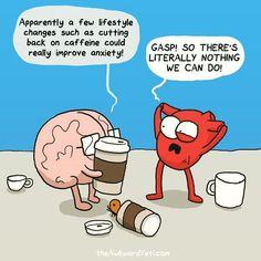 The Awkward Yeti Comic Strip Science Humor Akward Yeti, The Awkward Yeti, Funny Quotes, Funny Memes, Hilarious, Heart And Brain Comic, Black Rifle Coffee Company, Funny Comic Strips, Coffee Is Life