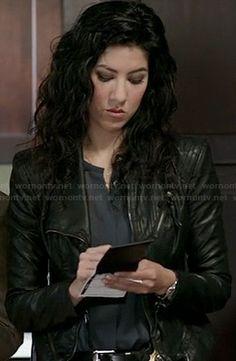 Rosa's black leather jacket on Brooklyn 99
