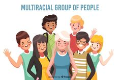Multiracial group of people background Free Vector People Illustration, Illustration Girl, Character Illustration, Face Sketch, 2d Character, Backgrounds Free, Illustrations And Posters, Vector Free, Jungle Life