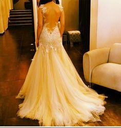 Dream wedding dress. Backless lace