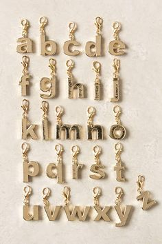 The Collector's Charm, Gold Letters - anthropologie.com