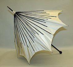 Parasol  Date: 1895–1905 Culture: European Medium: silk, metal, beading