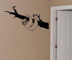 Faultier Wand Aufkleber