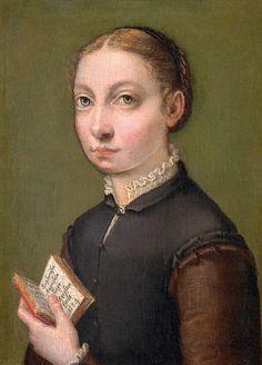 Auto-retrato, 1554 Sofonisba Anguissola (Itália, 1530-1625) óleo sobre painel de madeira, 19 x 12 cm Kunsthistorisches Museum [Museu da História da Arte], Viena
