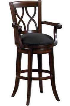 swivel bar stools with arms swivel bar stool with top grain leather seat by global. Black Bedroom Furniture Sets. Home Design Ideas
