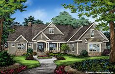 The Drake House Plan - Front Color