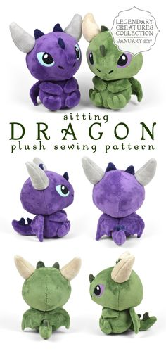 Sitting Dragon - Plush by Choly Knight
