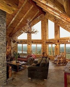 Please let me win the lottery so I can buy a log cabin like this
