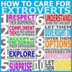 Here's how to care for extroverts!