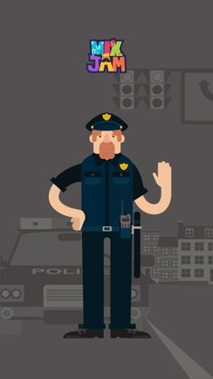 Freeze! It's police officer! Police officers maintain orders and safety of our community.