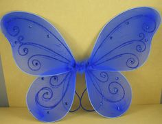 """Amazon.com: Royal Blue Butterfly Fairy Costume Wings 18"""" X 14"""": Toys & Games"""