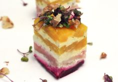 beet and goat cheese terrine-- add spinach layer?