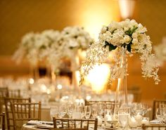 Love the draping florals.
