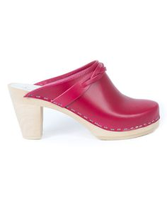 Love this Raspberry Stockholm Leather Clog