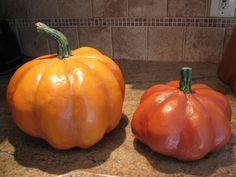 Paper mâché pumpkins