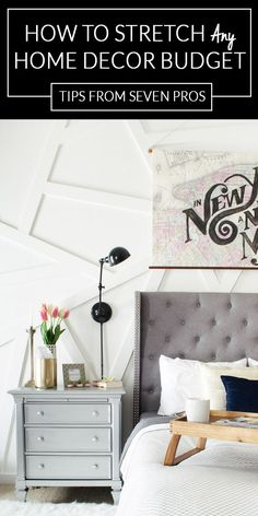 How to Save Money on Home Decor - Tips from 7 unique points of view on the best way to create a stylish, but affordable home.