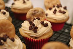 Mini chocolate chip cookie dough cupcakes.   Looks like a lot of work but worthwhile before baby!